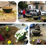 Rifacimento fiorierie nello spazio antistante la chiesa di San Giovanni a Carbonara